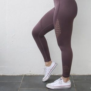 Mauve purple seamless leggings